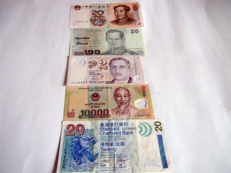 Banknotes Of The World Asian Currency