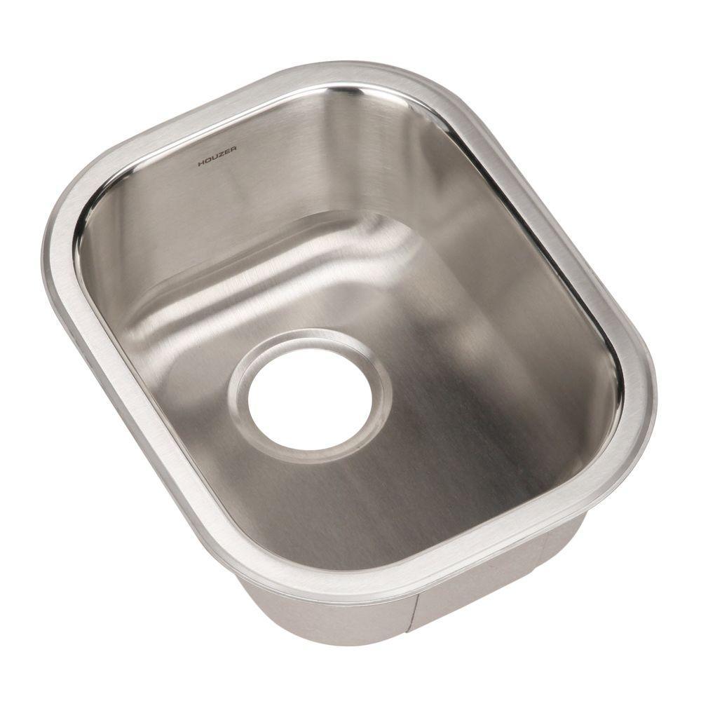 Houzer Club Series Undermount Stainless Steel 17 In Single Bowl Kitchen Sink In Lustrous Satin Cs 1407 1 With Images Sink Single Bowl Kitchen Sink Prep Sink