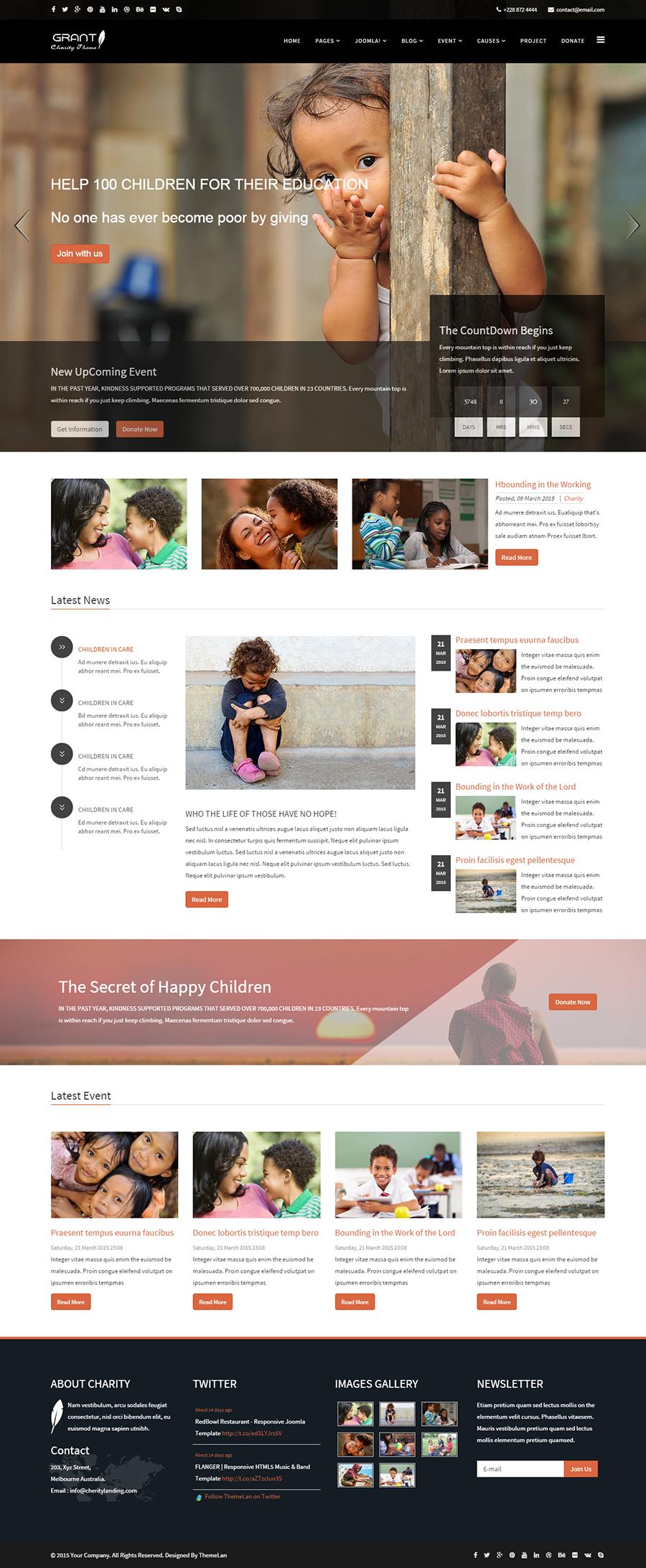 grant charity nonprofit ngo joomla template template