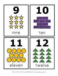 number flash cards 9 12 math numbers preschool number flashcards shapes flashcards. Black Bedroom Furniture Sets. Home Design Ideas