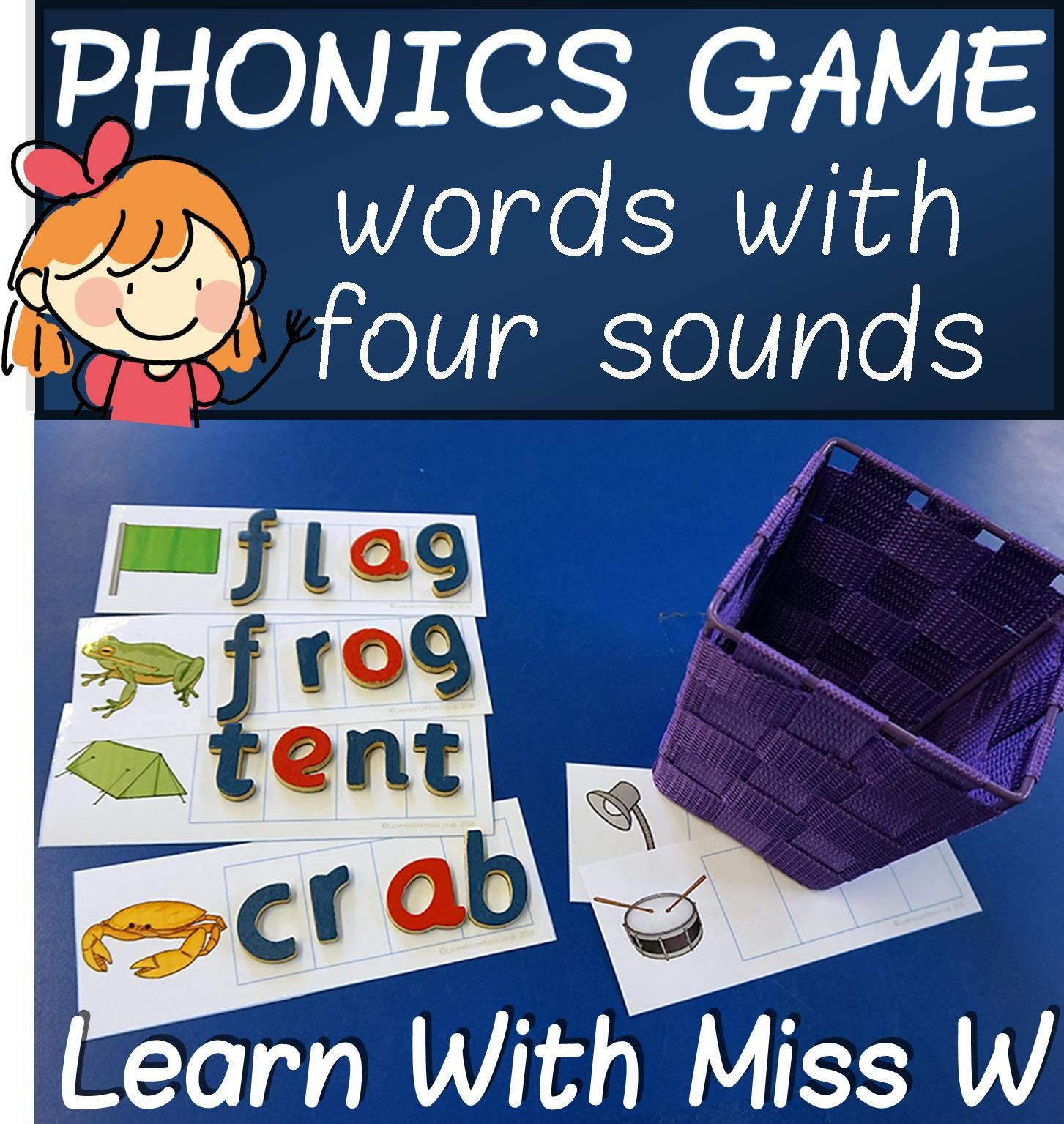 Consonant Digraph Words Phonics Game