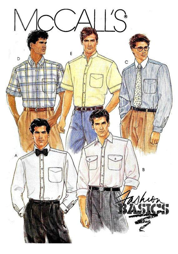 Men S Classic Shirt Sewing Pattern Neck Size By Keepsakesstudio