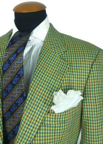 Hugo-Boss-Mens-Blazer-40R-Wool-Sport-Coat-. Houndstooth JacketSport ...