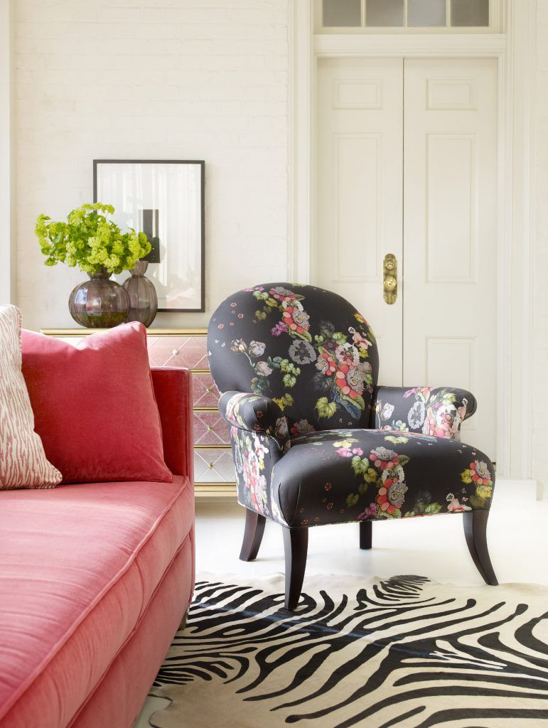 The Mimi Wing Chair Is Pretty, Poised And Proudly Feminine. The Pattern On  The Chair Is The Same As The Pattern On The Fleur De Glee Desk, Both  Designed By ...