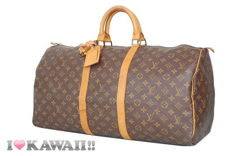 Authentic Louis Vuitton Monogram Keepall 55 Bag Boston Duffle Free Shipping!