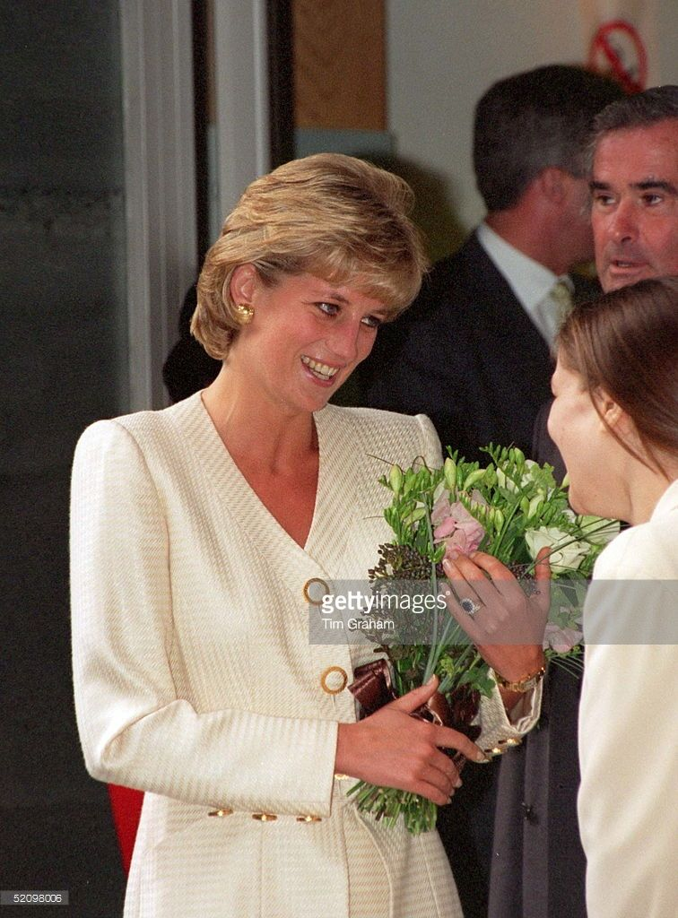 27 June 1996 Princess Diana Patron, National AIDs Trust Pictured during her…