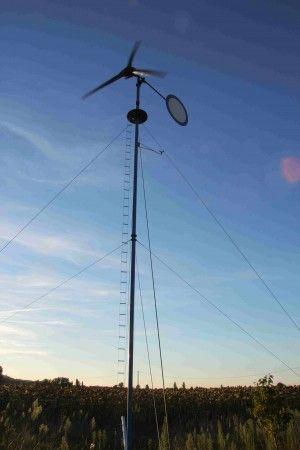 DIY  construire une éolienne en bois Clean Energy Pinterest - Panneau Solaire Chauffage Maison