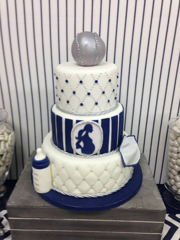 Baseball Baby ! Go Yankees! Baby Shower Cakes by Conti's Bronx NY