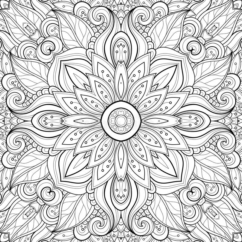 Seamless Abstract Tribal Pattern Vector Royalty Free Illustration Abstract Coloring Pages Mom Coloring Pages Tribal Pattern Drawing
