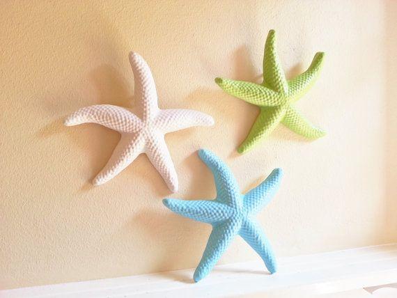 Starfish Wall Decor Beach Seashells Large