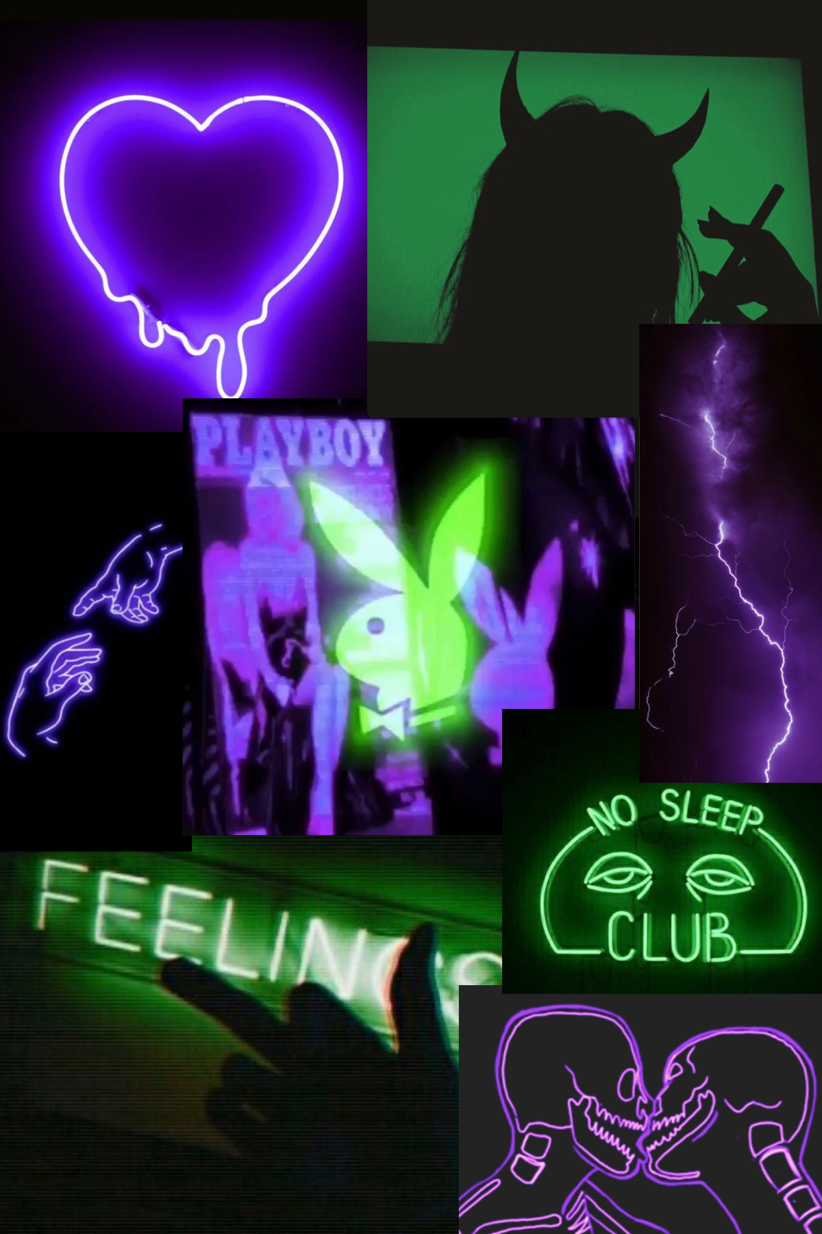 Neon Green And Purple In 2020 Wallpaper Iphone Neon Dark Green Aesthetic Green Aesthetic Tumblr