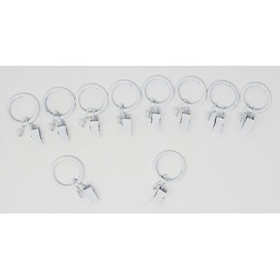 17 Stories Mayfield Metal Curtain Ring Color Glossy White Metal