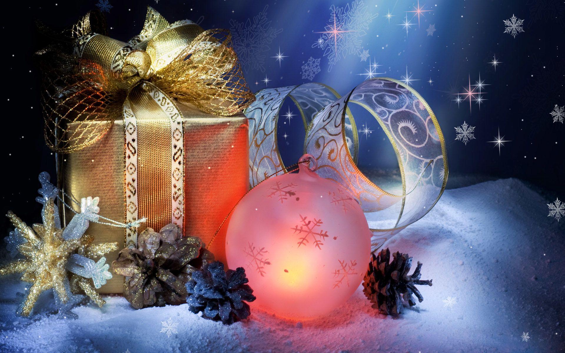 Holiday Christmas  Christmas Ornaments Gift Wallpaper