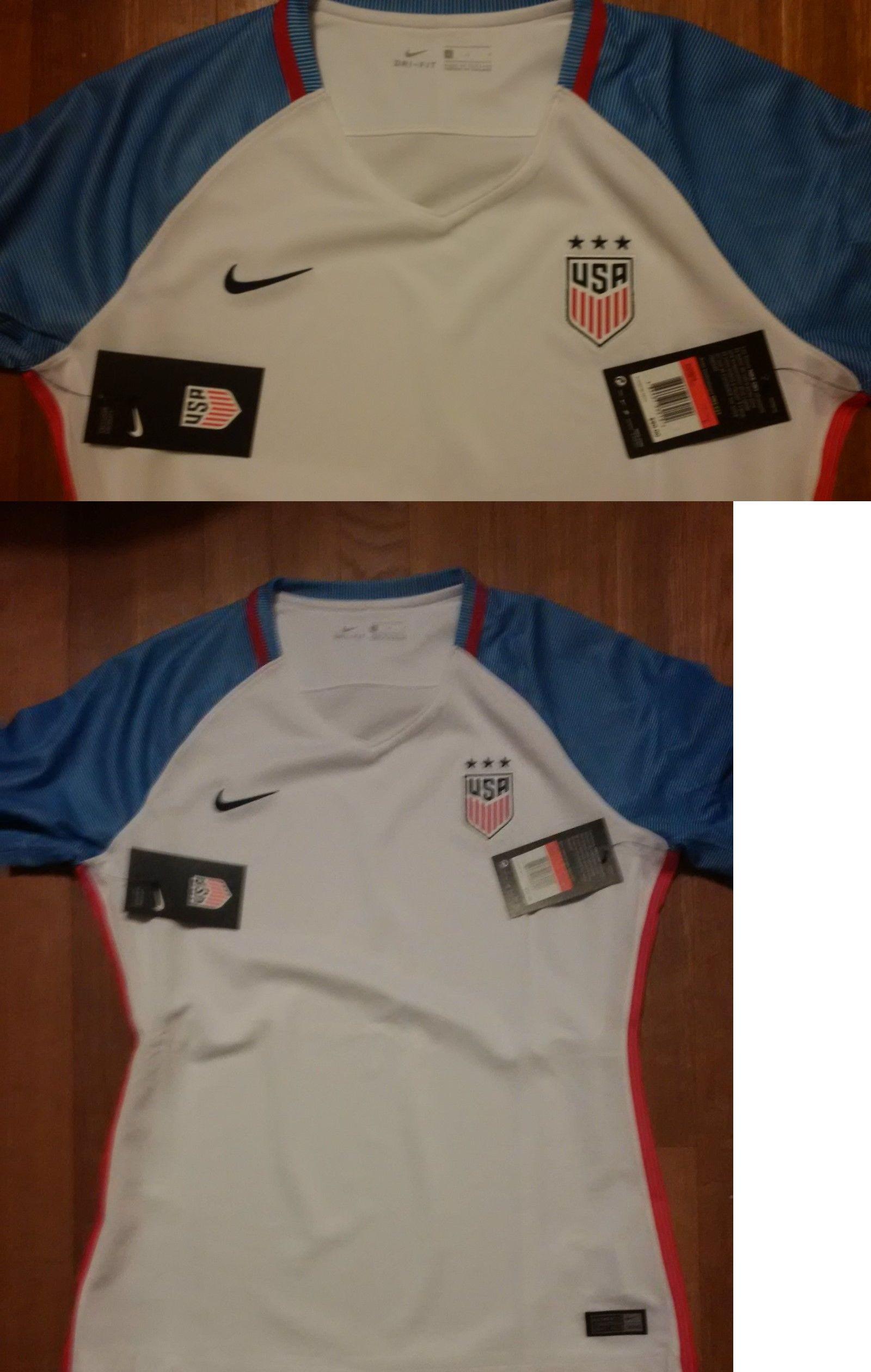 175de3835 Soccer-National Teams 2891  Nike Womens Medium White Home Us Usa Soccer  Jersey Nwt