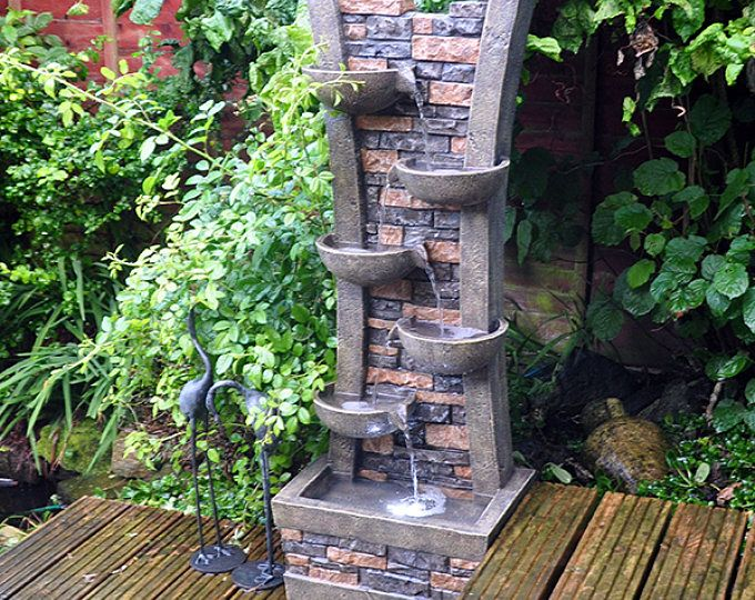 Personalizado pared y tazón de fuente en cascada característica del - cascada de pared