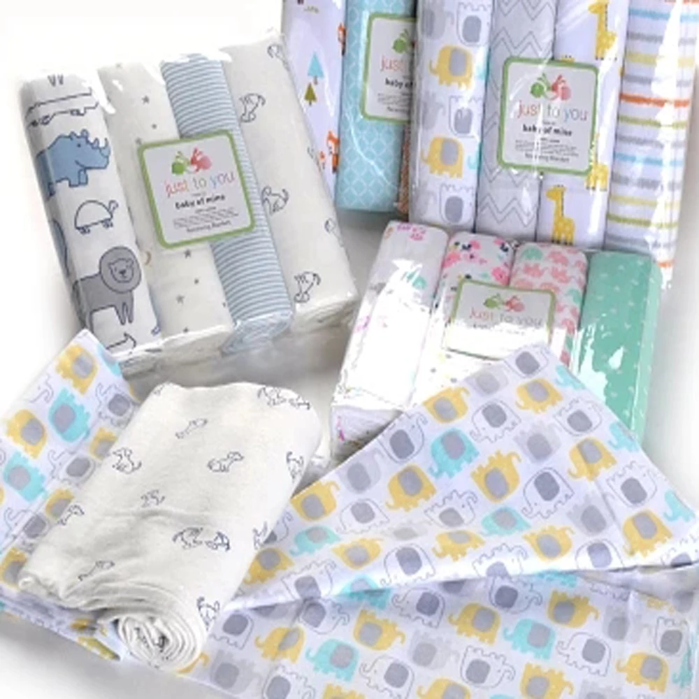 4pcs Lot Baby Blankets Newborn Muslin Diapers 100 Cotton Baby Swaddle Blanket For Newborns Photography Kids Muslin Swaddle Wrap Baby Swaddle Baby Swaddle Blankets Newborn Blankets