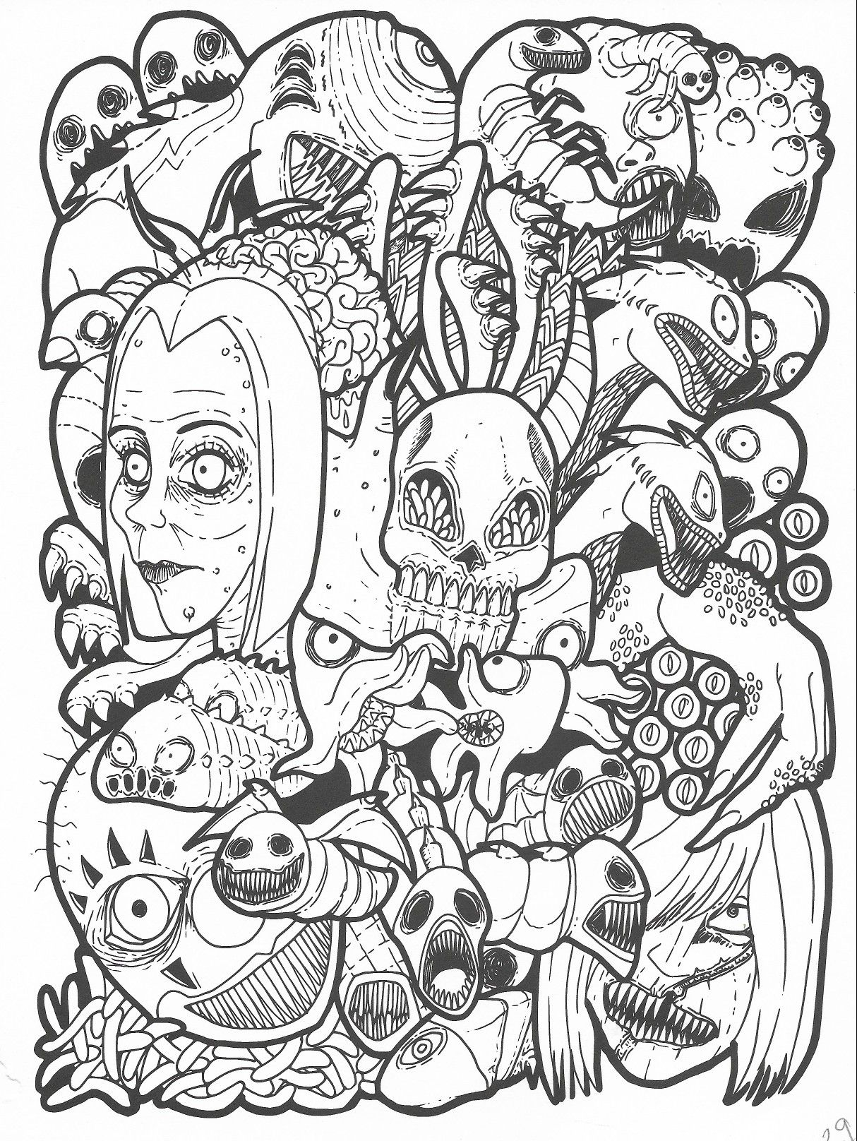 Pin By Angie Burtt On Badass Coloring Pages Sketches