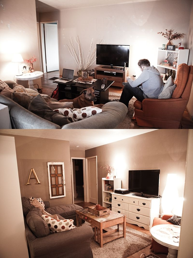 Before After Small Living Room Design