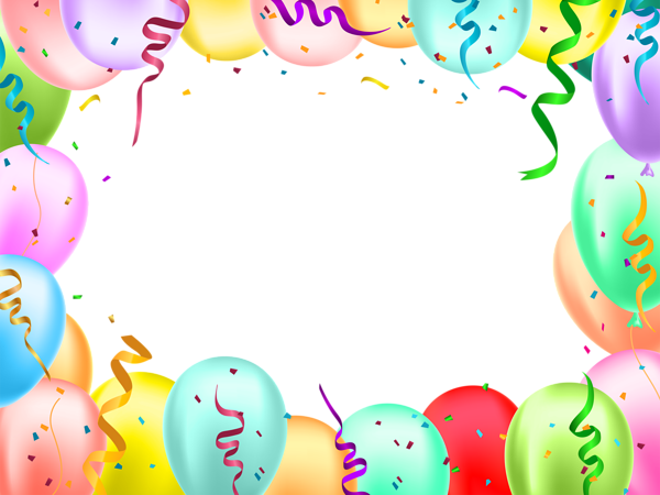 Birthday Border With Balloons Transparent Image Balloons Happy