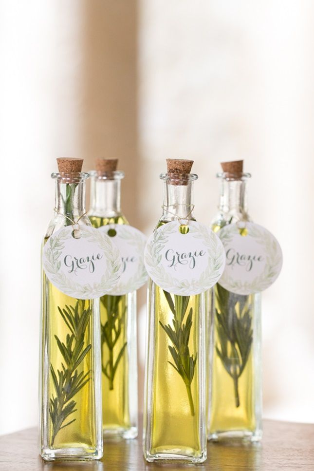 Say Grazie To Guests With Olive Oil Party Favors Wedding From