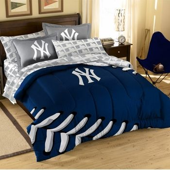 New York Yankees Mini Bed In A Bag Set, New York Yankees Queen Bedding