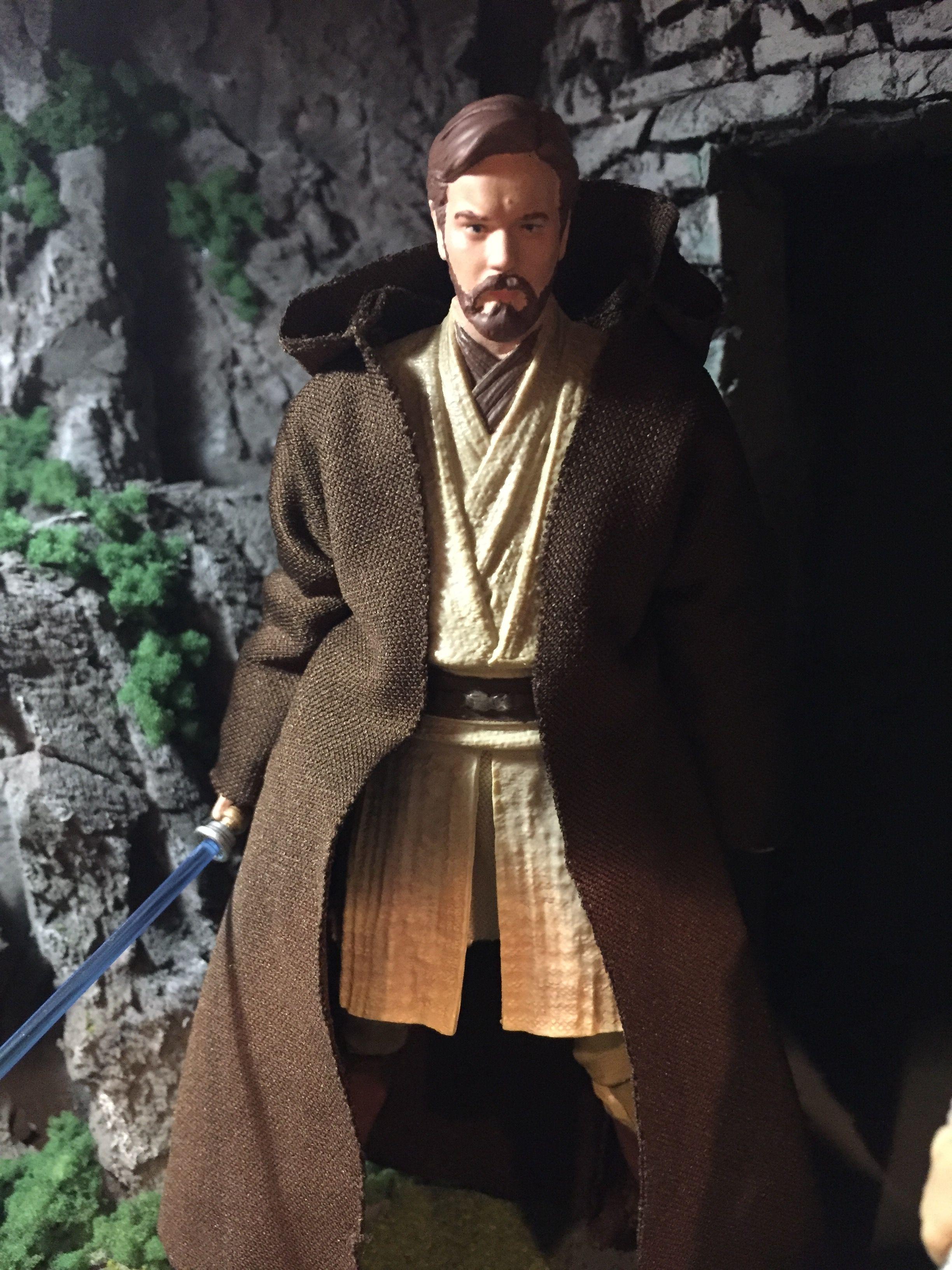 Obi Wan Kenobi Star Wars Black Series 6 Inch Custom Repaint Action Figure Star Wars Black Series Star Wars Toys Star Wars Action Figures