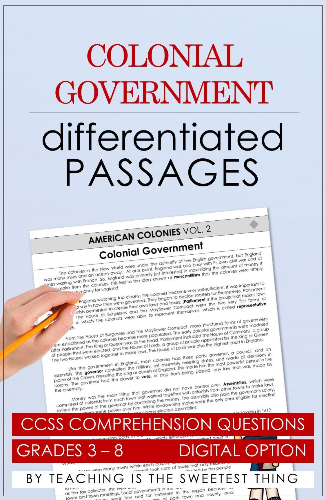 American Colonies: Passages (Vol  2) | Teaching | Teaching