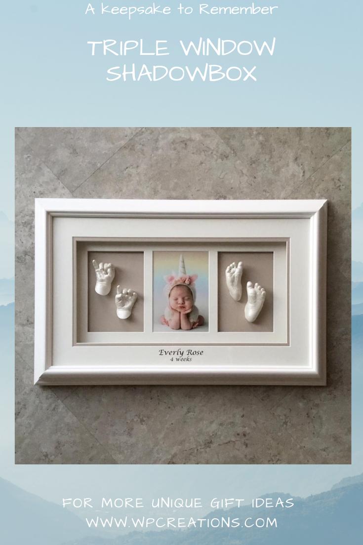 Frame kit Infant keepsakes 3D Casting Boys Girls NEW Baby Shower Expecting Gift
