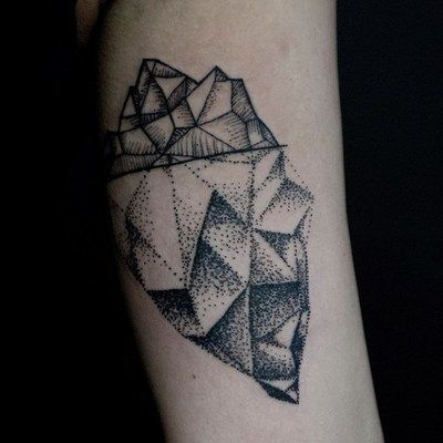 iceberg tattoo done by Yanick at Mile End Tattoos, Montreal QC