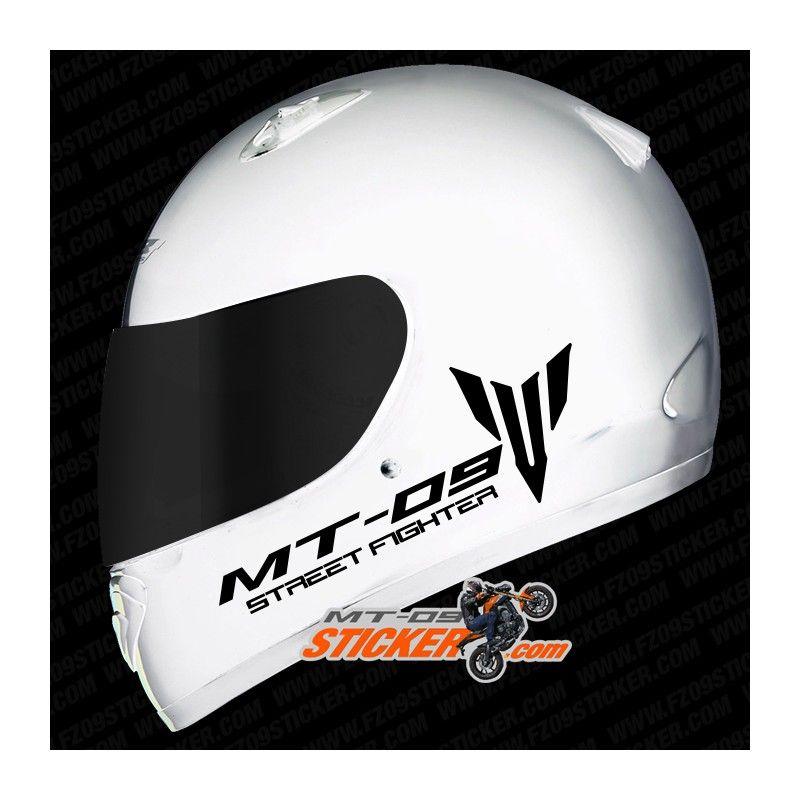 2 custom Yamaha MT09 street fighter side helmet stickers