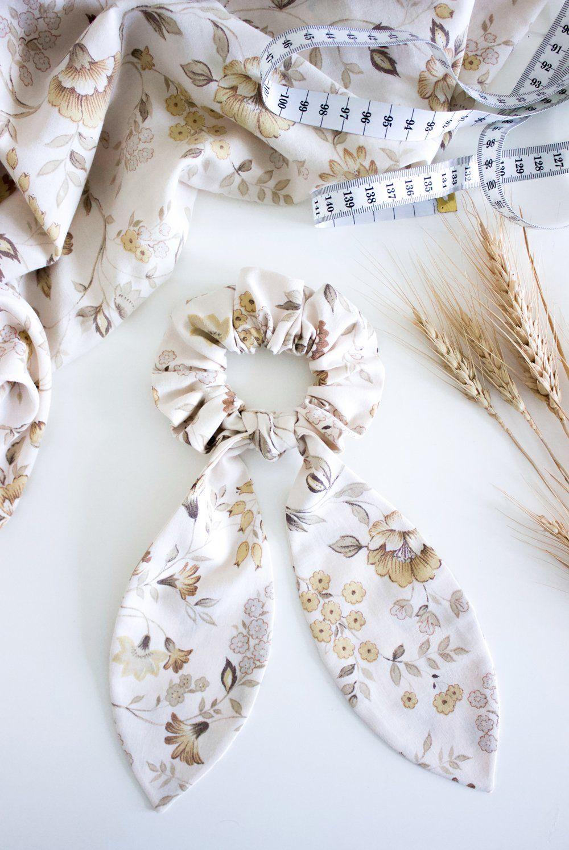 THE HEMMING DIY BOW SCRUNCHIE TUTORIAL #fabricbowtutorial