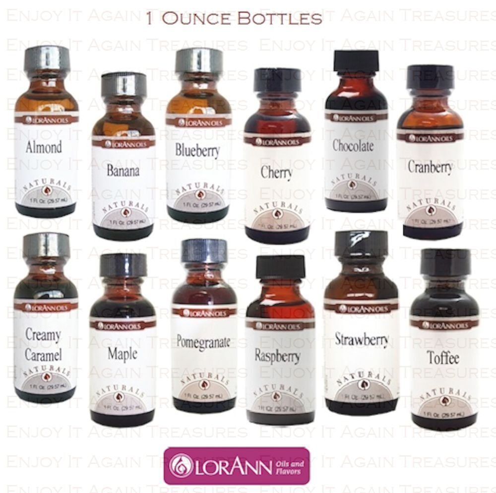 Details about LorAnn 1 oz Natural Flavoring Extracts Flavors