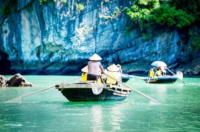 Full-Day Halong Tour including Bamboo Boat Ride from Hanoi This small-group day trip leads you to the famous Halong Bay and through the most attractive areas of the Tonkin Gulf. Our well-designed cruising route offers you an excellent opportunity to see the most beautiful high points, in and around the water of the World Heritage site, in a very relaxed way. You witness the tranquil beauty and breathtaking scenery from sundeck of a comfortably traditional junk, from which you ...