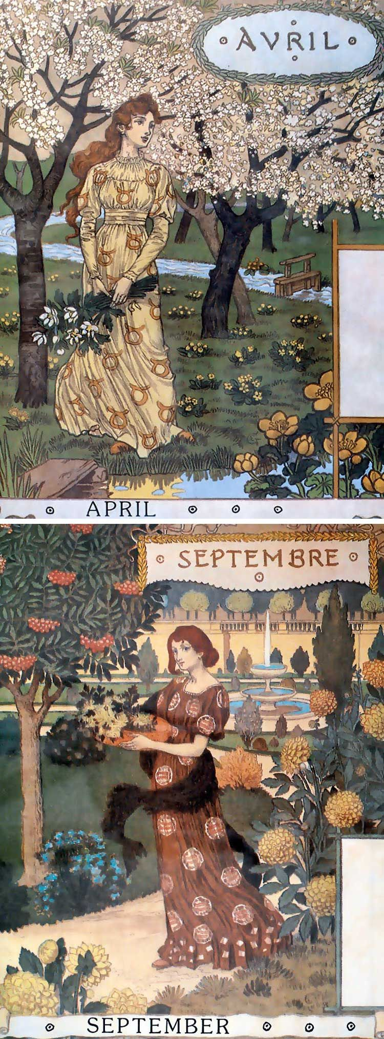 Calendar Reform Ideas : From a calendar called quot la belle jardinière illustrated