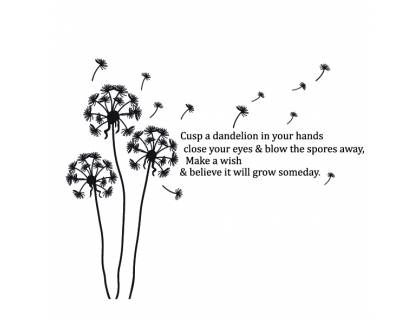 Dandelion Quote Every Design Piece Is Packed Separately So Must Be Put Together Size Medium 100x85 Dandelion Quotes Meant To Be Quotes Dandelion Tattoo
