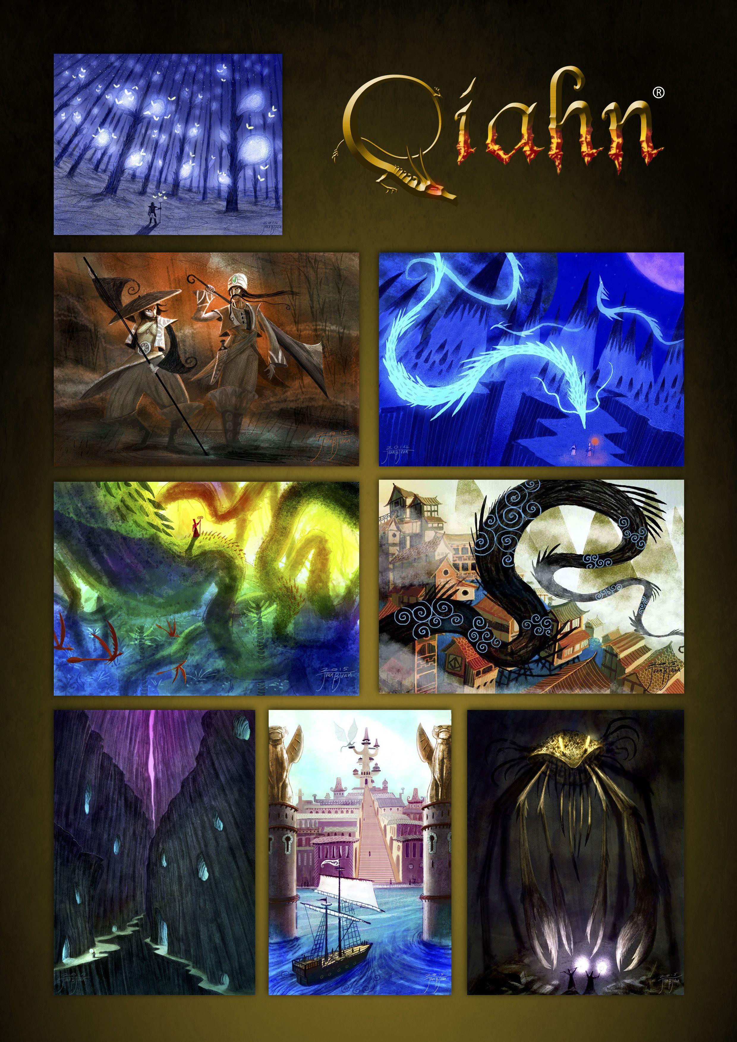 ilustracions de qiahn