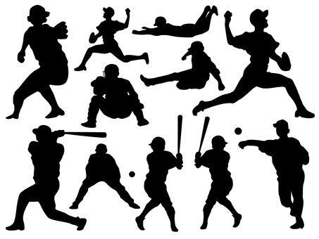 Photo of シルエット 野球イラスト
