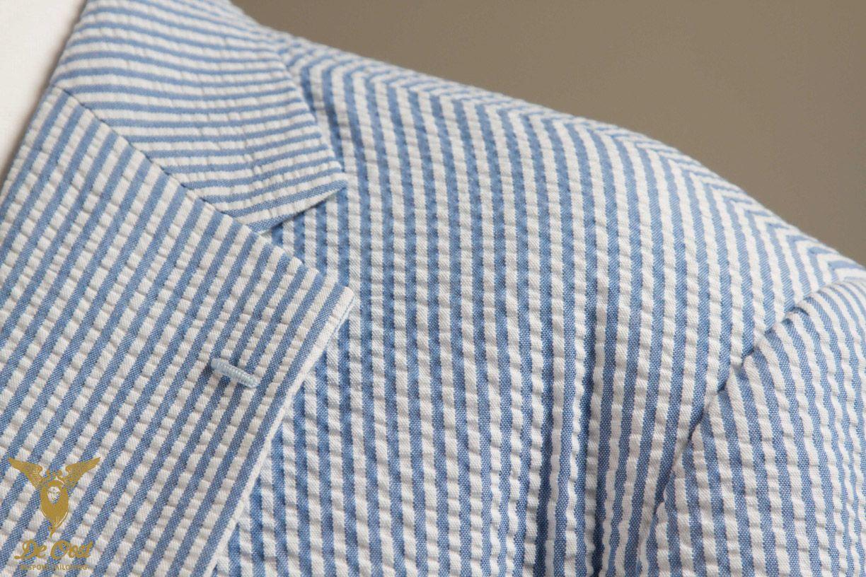 Seersucker Suit Lapel Close Up | Bespoke Suits - Handgemaakte Pakken ...