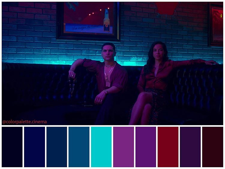 Color Palette Cinema On Instagram Too Old To Die Young 2019 Directed By Nicolas Winding Refn Cinematography Dar Cinematography Cinema Colours Cinema