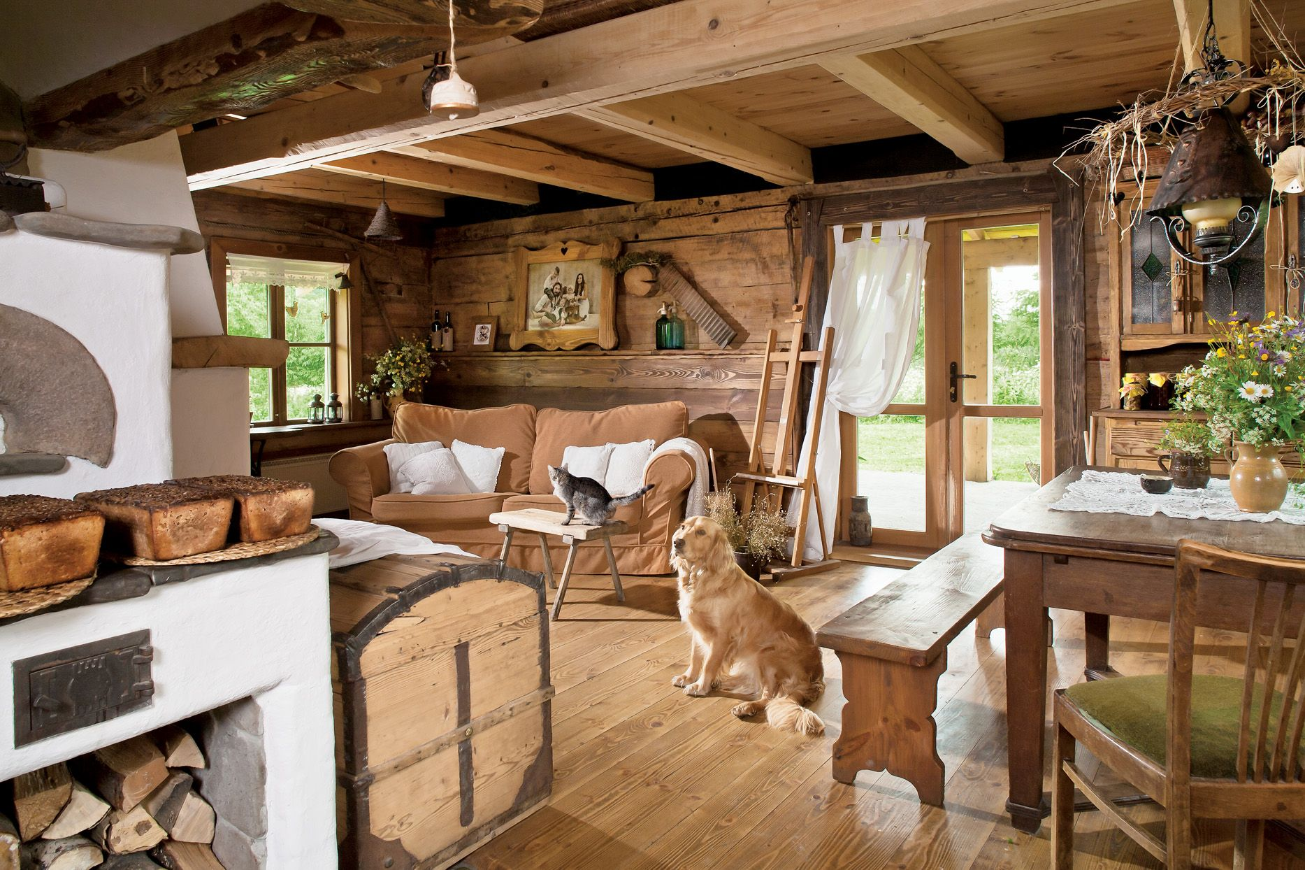 Wooden House in Smolnik, Bieszczady / Poland | Interior ideas ...