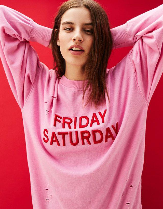 Women\'s Sweatshirts & Hoodies for Spring Summer 2017   Bershka ...
