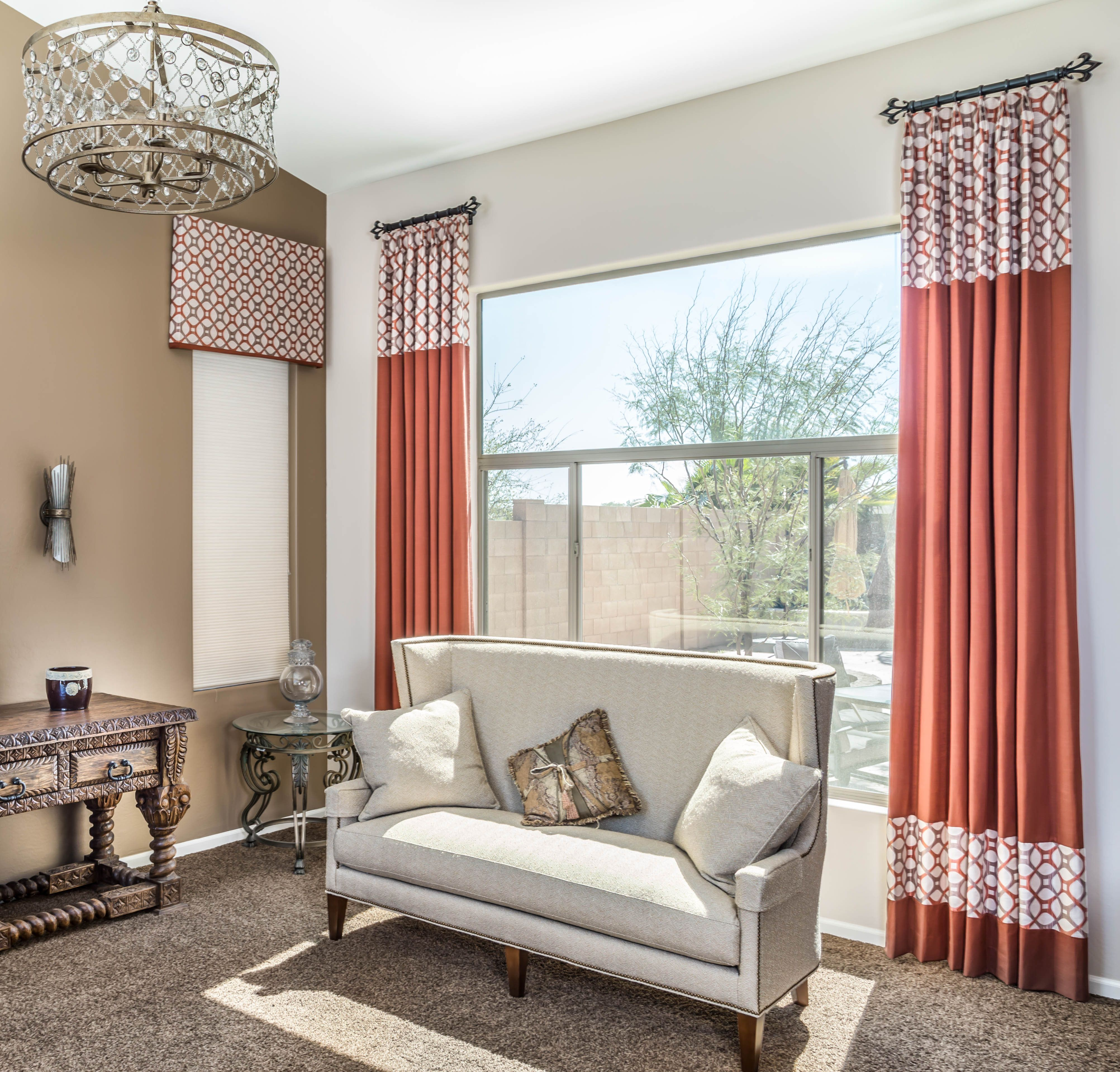 Window coverings arched windows  images of drapery  az draperies and pillows phoenix ahwatukee