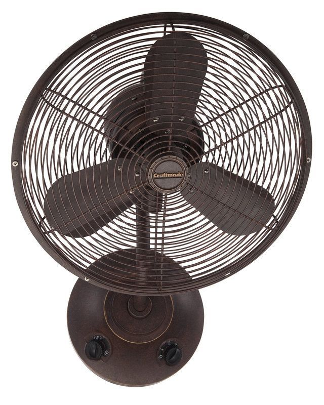 """View the Craftmade Bellows I 16"""" 3 Blade Wall Mount Fan at LightingDirect.com."""