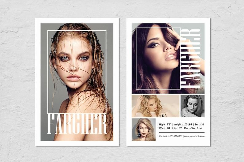 Modeling Comp Card Fashion Model Comp Card Template Etsy In 2021 Model Comp Card Card Templates Free Card Model