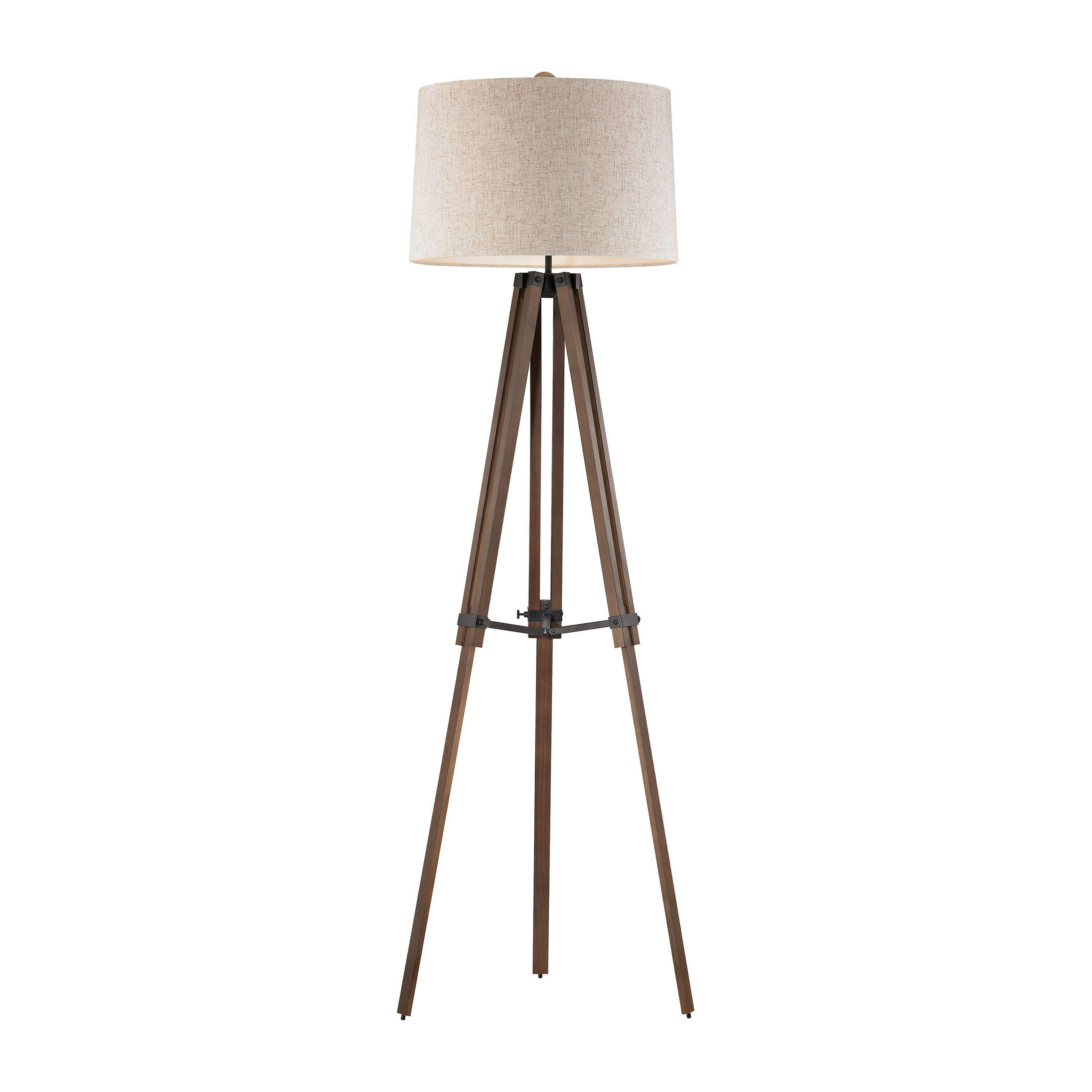 Wooden Brace Tripod Floor Lamp in 2020 Wooden tripod