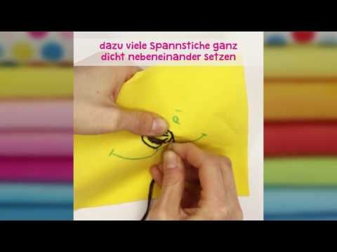 Quick Tip – Sticken mit dem Plattstich - YouTube
