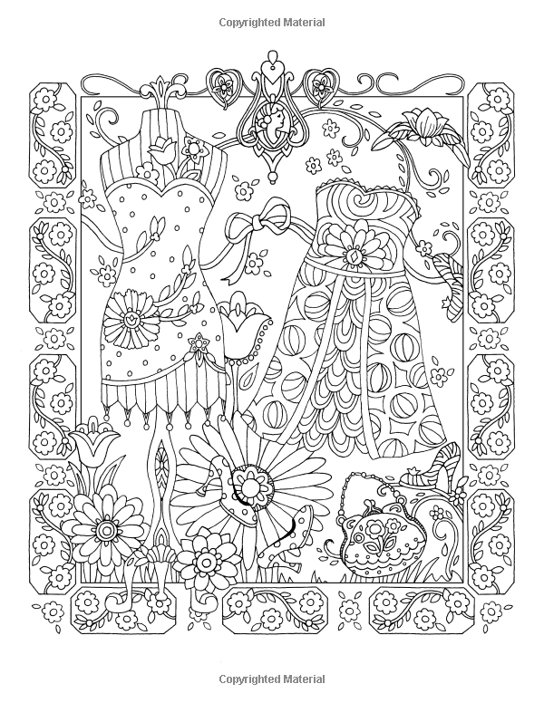 Fanciful Fashions Coloring Book Marjorie Sarnat