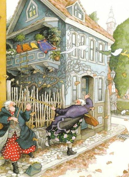 Inge Löök was born in 1951 and comes from Finland. She is a gardener when it is warm outside and an illustrator when it is cold and rains. Nature is her main inspiration as well as two cheerful lad…