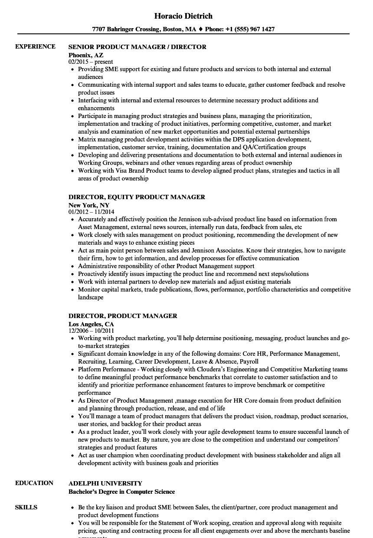 Director Product Manager Resume Samples Velvet Jobs Best Director Product Manager Resume Samples Vel Resume Examples Manager Resume Medical Assistant Resume