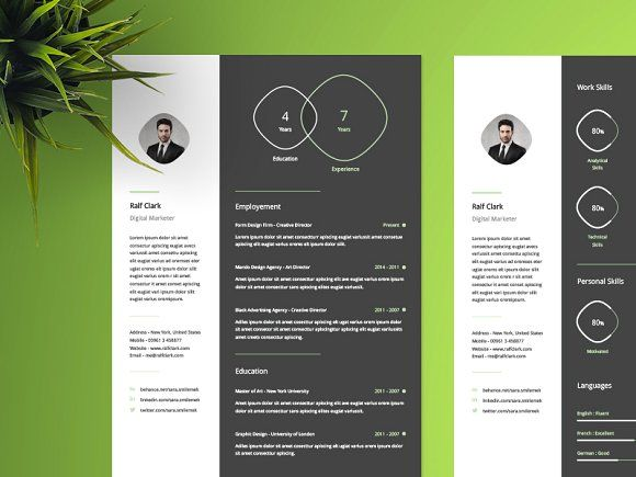 Infographic Resume Template Pinterest Infographic resume